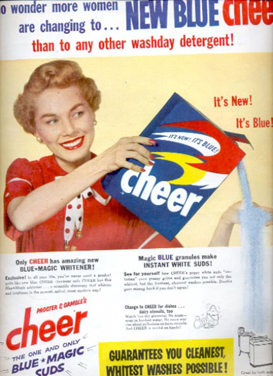 1953  Cheer Detergent by Procter & Gamble  ad (#5581)