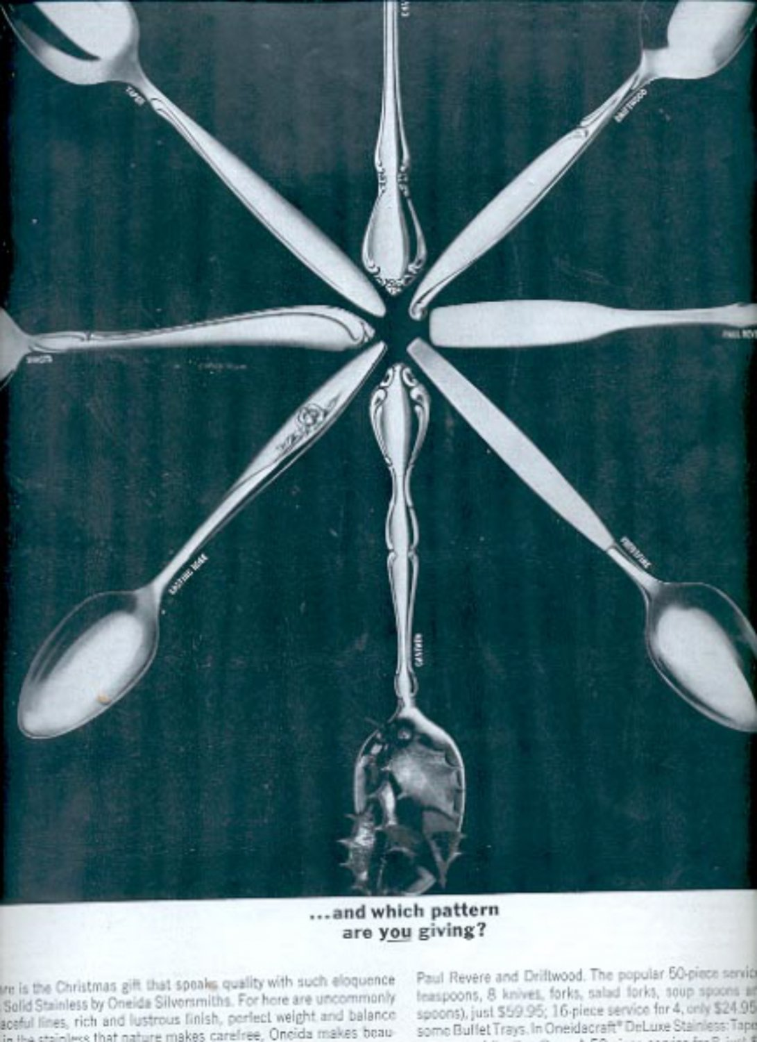 1963   Solid Stainless by Oneida Silversmiths    ad (#5525)