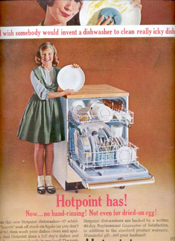 1963   Hotpoint dishwasher   ad (#5522)