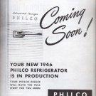 Oct. 29, 1945  - New 1946 Philco Refrigerator  ad (# 5248)