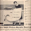 1960  Philco -Bendix Duomatic washer-dryer  ad (# 5206)