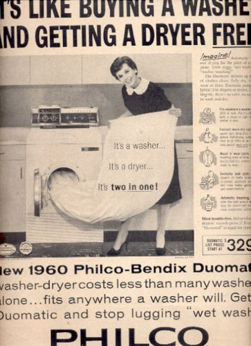 1960  Philco -Bendix Duomatic washer-dryer  ad (# 5206)
