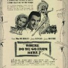 """1945 """"Where Do We Go From Here?""""  movie  ad (#1091)"""