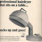 """1964    Schick """"Consolette"""" hairdryer  ad (# 4521)"""
