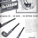 1946  Pre-Smoked Dr. Grabow pipes  ad (# 5097)
