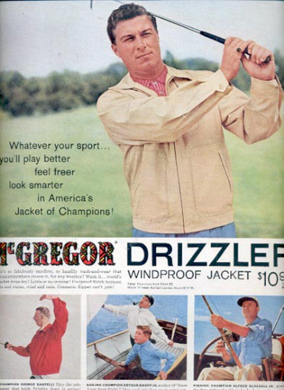 1957  McGregor Drizzler Windproof Jacket  ad (# 4950)