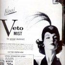 1957  Veto Spray aerosol deodorant ad (# 4674)