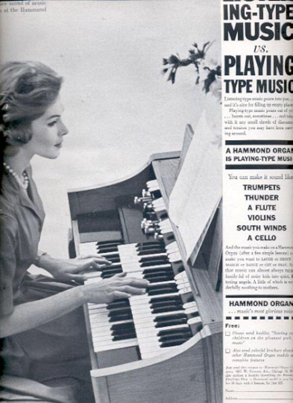 1964   Hammond Organ  ad (# 4873)