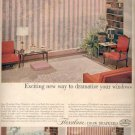 1957  Flexalum Draw Draperies   ad (# 4817)