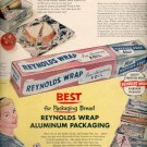 1957  Reynolds Wrap Aluminum Packaging ad (# 4751)