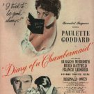 """1946  """"Diary of a Chambermaid""""  movie ad (#1087)"""