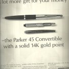 1964  New Parker 45 Convertible Pen  ad (#4014)