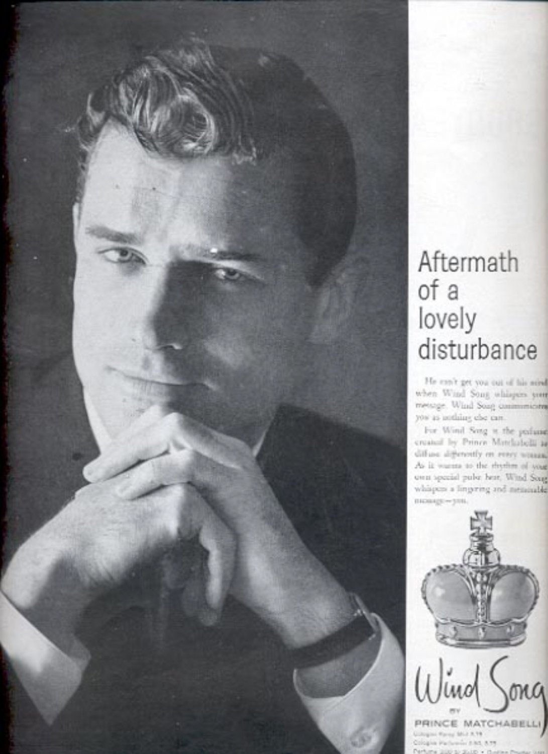 1960 Wind Song by Prince Matchabelli   ad (#5381)