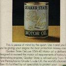 1972 Quaker State Motor Oil     ad (#  1203)