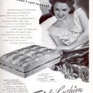 1945    Triple Cushion Mattress- box springs ad (#4188)
