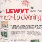 1955 Lewyt the cleaner is on wheels  ad (# 2951)