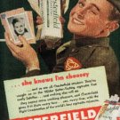1944 Chesterfield     cig. ad (#  607)