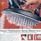 1962 Presto Spray- Steam Iron ad (#  2580)