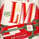 Dec. 13, 1955 L & M Filters Cigarettes  ad (# 829)