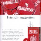 1964 Pall Mall Famous Cigarettes   ad (# 5255)
