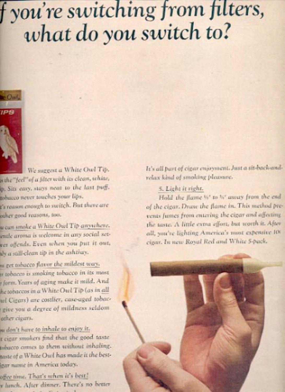 1964    White Owl Tips cigar  ad (# 4845)
