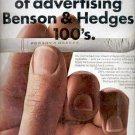 1968   Benson & Hedges 100's  ad (#4275)