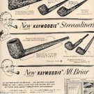 1952 Kaywoodie Streamliners Pipes ad (#2469)