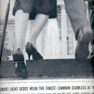 1957  Cannon Seamless Stockings  ad (# 4972)