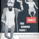 1957  Hanes underwear  ad (# 4961)