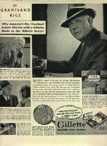 1938  Gillette Razors and Blades ad (# 1209)