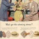 1946 Stetson Straws ad (# 2171)