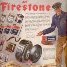 1945   Winter-sure your car at Firestone ad (# 5217)