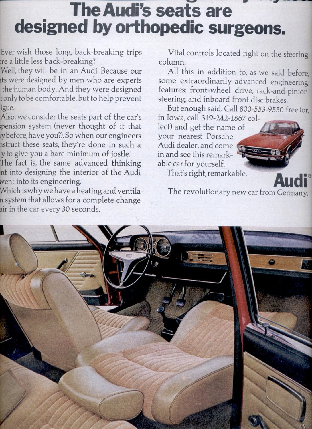 July 31, 1970  Audi car     ad  (# 2835)
