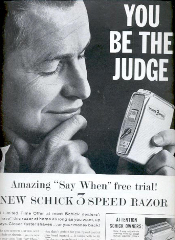 1960 Schick 3 Speed razor   ad (#5382)