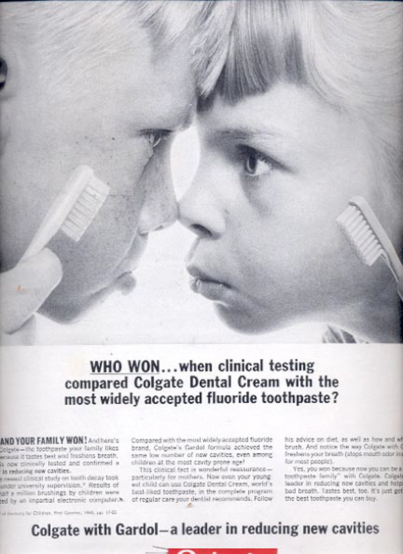 1963    Colgate Dental Cream Toothpaste  ad (#5541)
