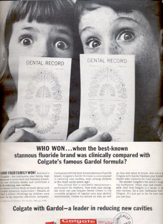 1964   Colgate with Gardol  Dental Cream  ad (# 4879)