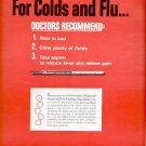 1964  Bayer Aspirin for colds and flu   ad (# 4510)