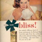 1958 Bliss Home Permanent by Richard Hudnut  ad (#4104)