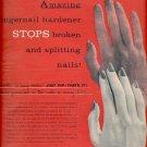 1957 Amazing Fingernail Hardener   ad (#4250)