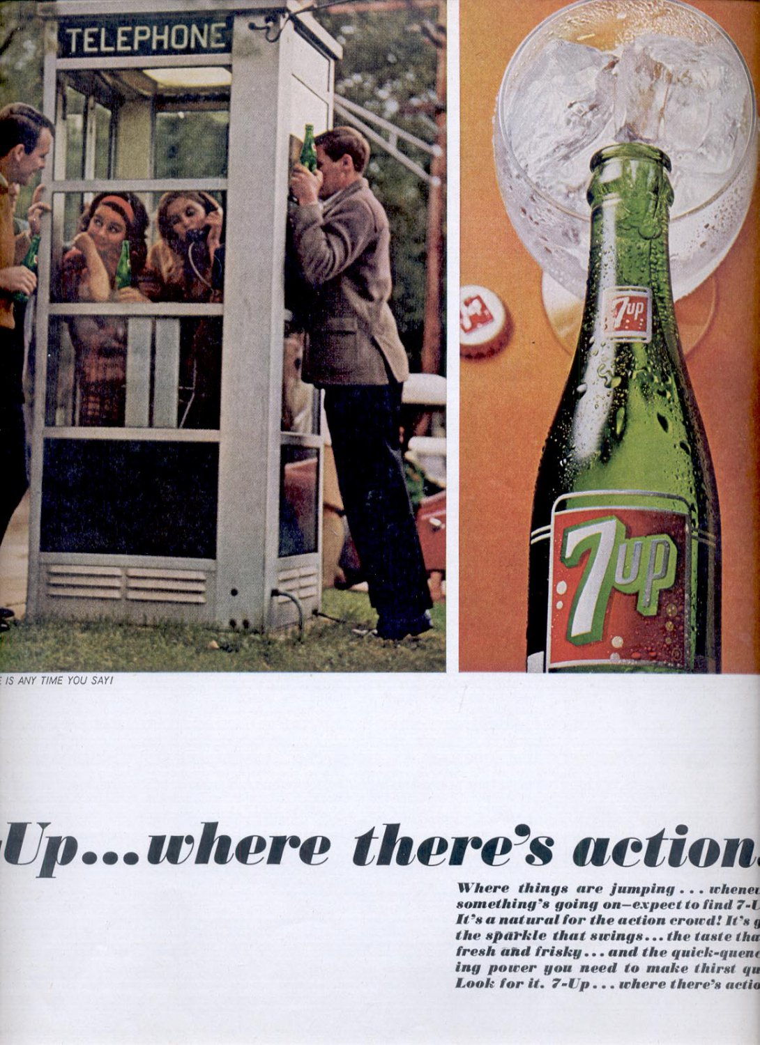 March 27, 1965-  7-up...where there's action! ad (# 2839)