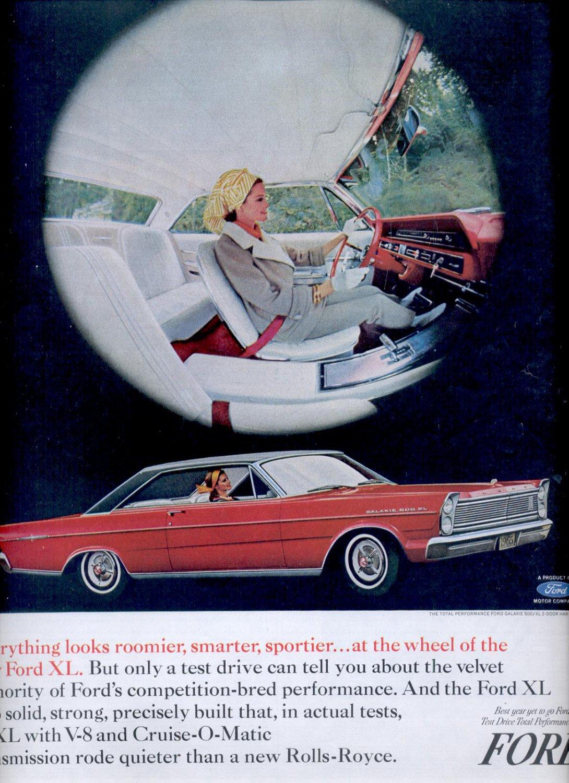 March 27, 1965-   Ford XL ad (# 2841)