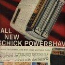 1957  Schick Powershave Razor ad (# 1151)