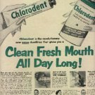 1952  Chlorodent Tooth Powder ad (# 1118)
