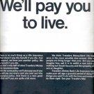 1967 Travelers money- back life insurance  ad (#4304)