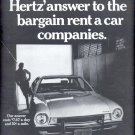 Nov. 13, 1970  Hertz Rent a Car ad  (#1733)