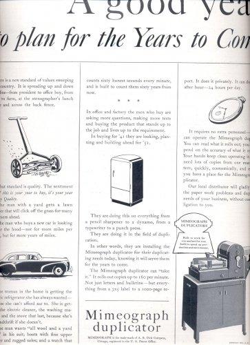 July 21, 1941  Mimeograph Duplicator     ad  (#2916)