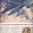 July 24, 1944 Studebaker builds Wright cyclone engines     ad  (#3484)