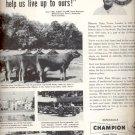 1953  Champion spark plugs  ad (#5585)