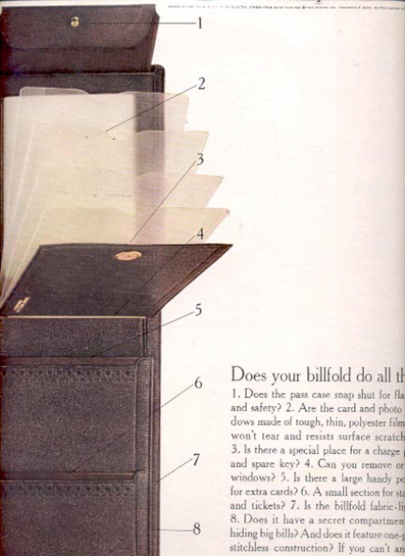 1960  Lord Buxton billfold  ad (#5500)