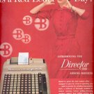1954  Burroughs adding machine ad (# 5165)